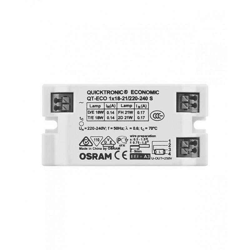 QT-ECO 1X18-21/220-240 S VS50 OSRAM фото 1