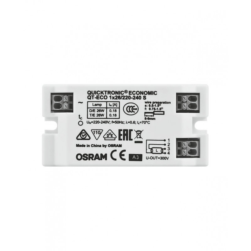 QT-ECO 1X26/220-240 S VS50 OSRAM фото 3