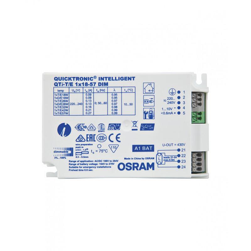 QTI-T/E 1X18-57/220-240 DIM VS20 OSRAM фото 1