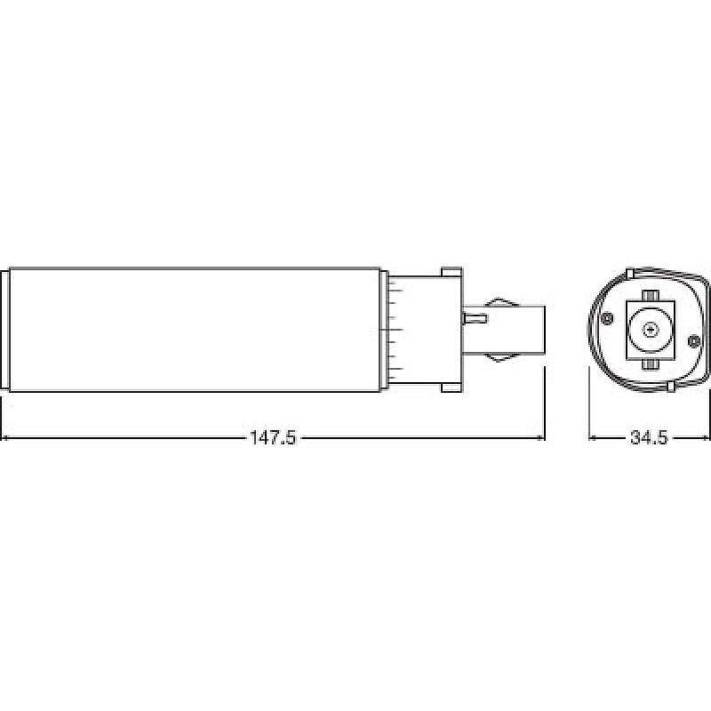 DULUX D LED 7W/840 230V EM G24d-2 OSRAM фото 3
