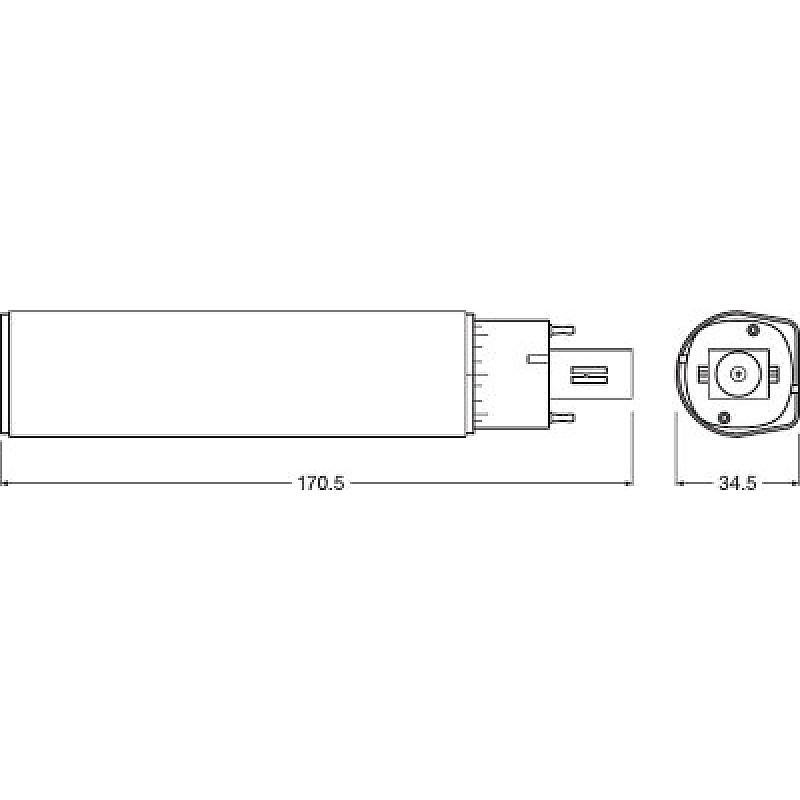 DULUX D LED 10W/840 230V EM G24d-3 OSRAM фото 3