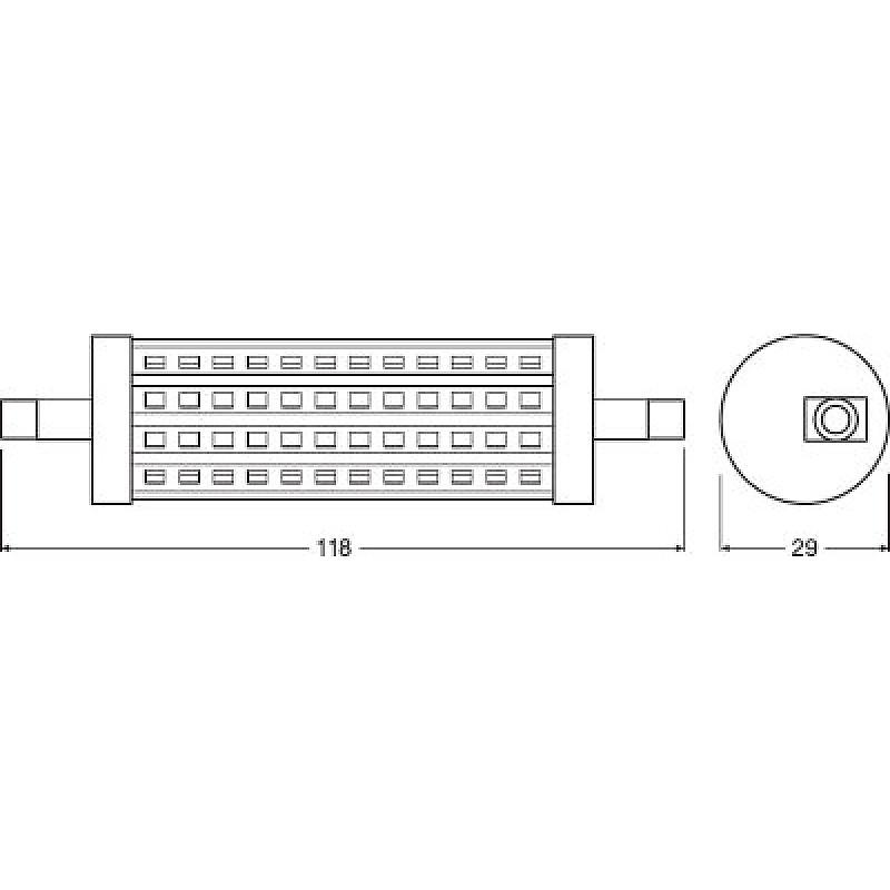LED PARATHOM LINE 118 125 DIM 15W/827 230V R7S OSRAM фото 3