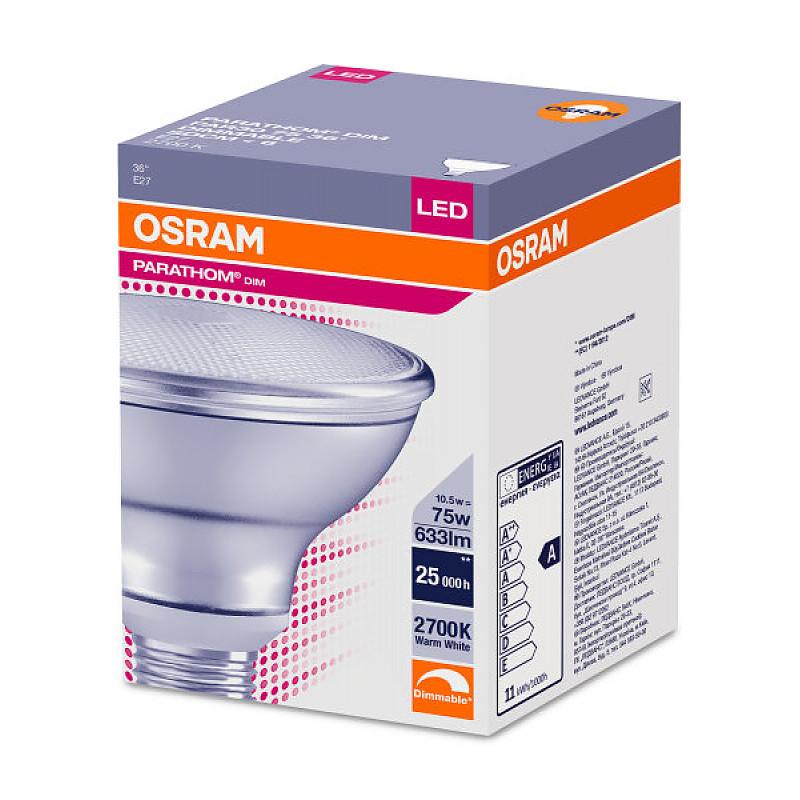 LED PARATHOM PAR30 DIM 75 36° 10W/927 230V E27 OSRAM фото 2