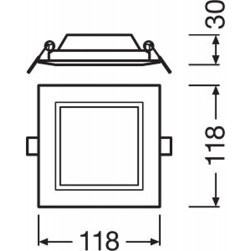 DL SLIM SQ105 6W/6500K WT IP20 LEDVANCE фото 4