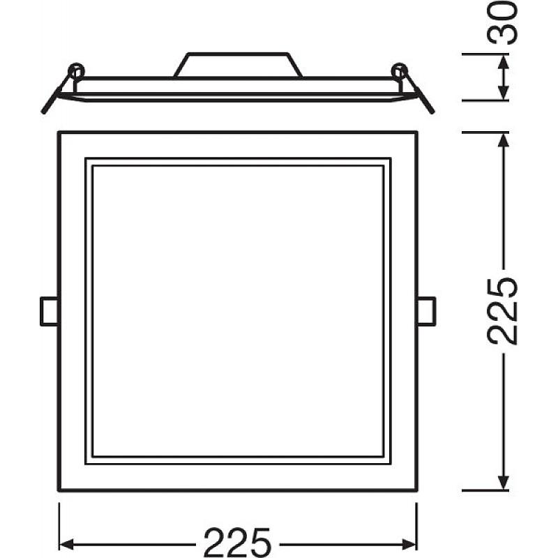 DL SLIM SQ210 18W/6500K WT IP20 LEDVANCE фото 1