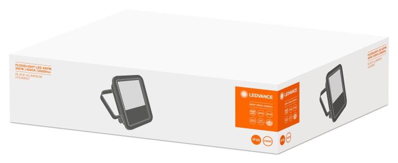 FLOOD LED Assymmetrical 200W/4000K BK IP65 LEDVANCE фото 1