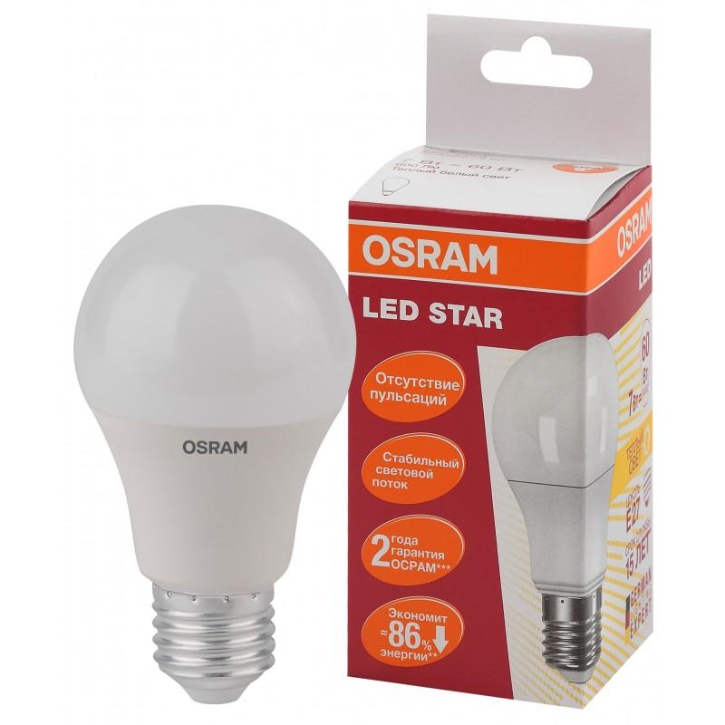 LED STAR CLA60 7W/827 230V FR E27 OSRAM фото 2